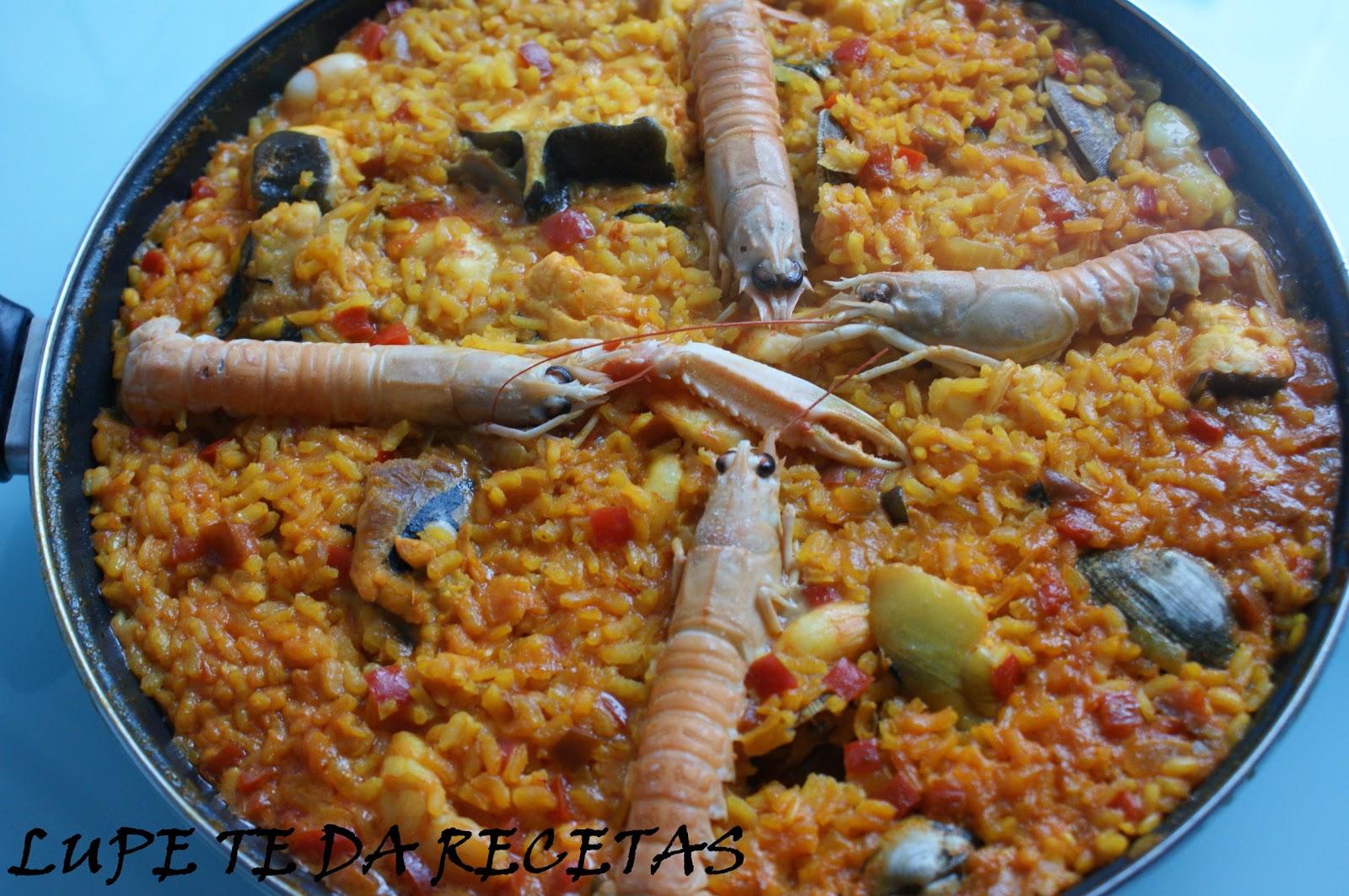 Paella de pescado y marisco cocina - Paella de pescado ...