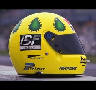 Le gocce sul casco di Christian Fittipaldi