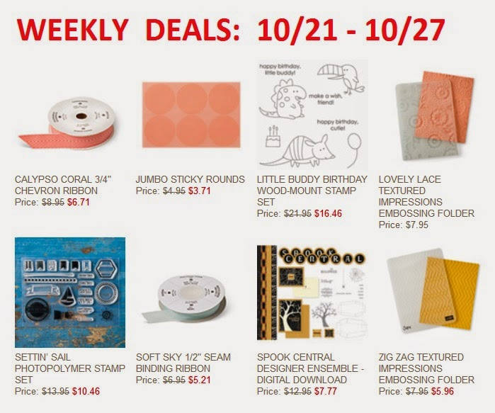 Items on Stampin'UP!'s Sale of the Week starting 10/21/2014
