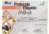 """Expositor de la conferencia taller """"Protocolo & Etiqueta"""" - Cedes - Ayacucho, 2013."""