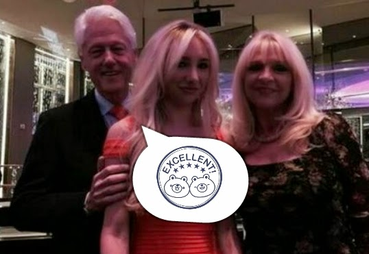 Foto Mesra Bill Clinton Bersama Andrea, Buat Heboh