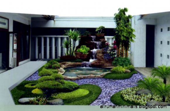 Desain Taman Rumah Minimalis Modern Terbaru 2015   Update Terbaru 2015