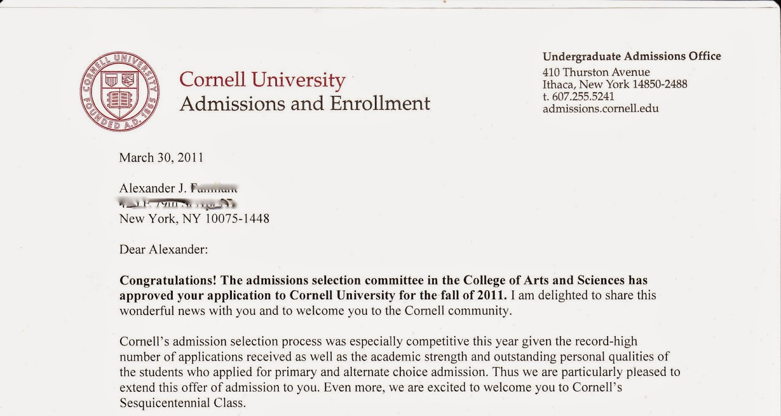 Cornell admissions essay engineering