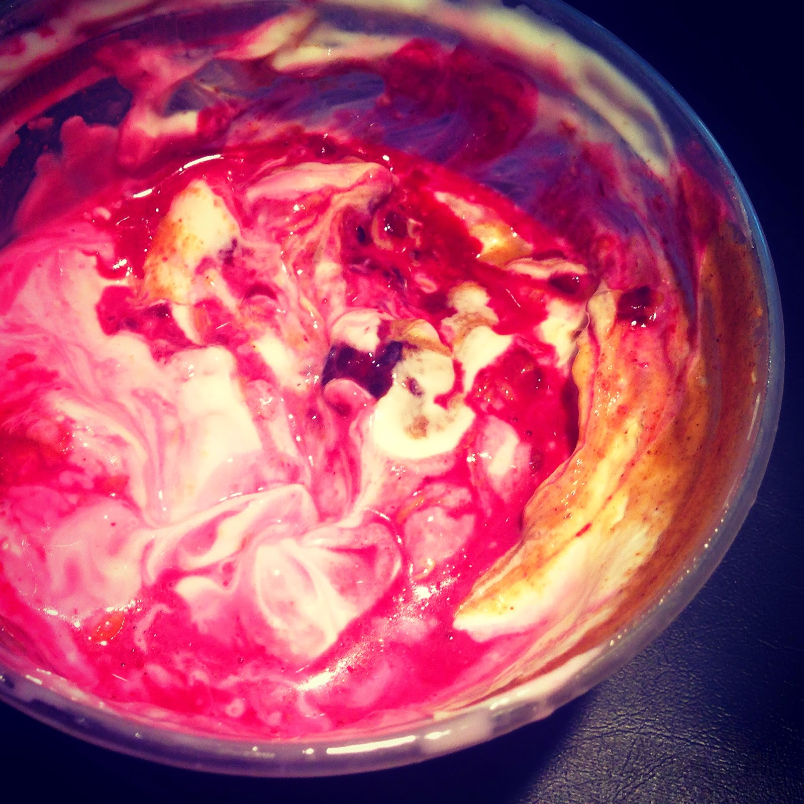 Greek Yogurt with Frozen Berries and Almond Butter