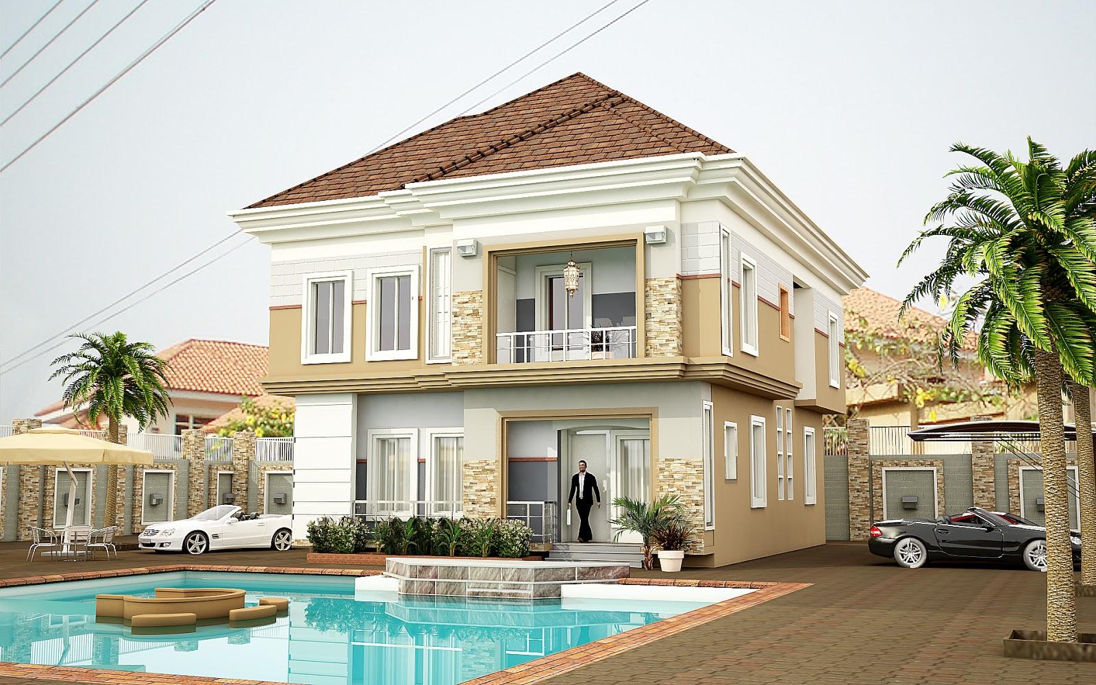 Lekki duplex art graphics video nigeria for Modern duplex house designs in nigeria