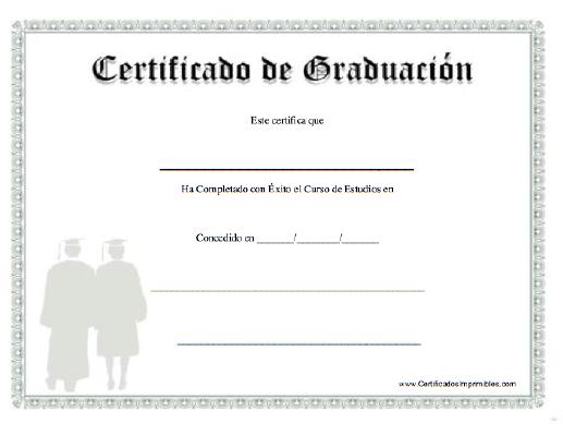 Certificados De Graduacion Para Imprimir