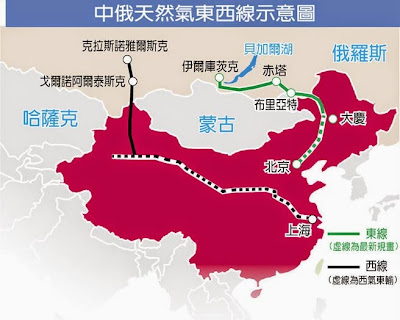 中俄 天然氣  中俄東線供氣
