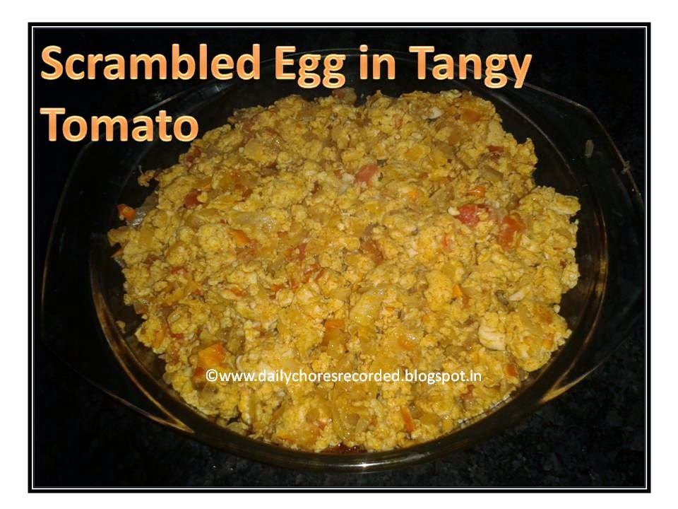 Scrambled Egg in Tangy Tomato