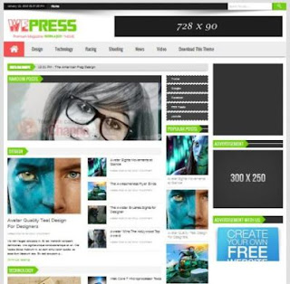 WePress News Responsive blogger template