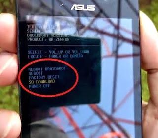 Cara Flash Asus Zenfone 4 (T00I) Bootloop Tanpa PC