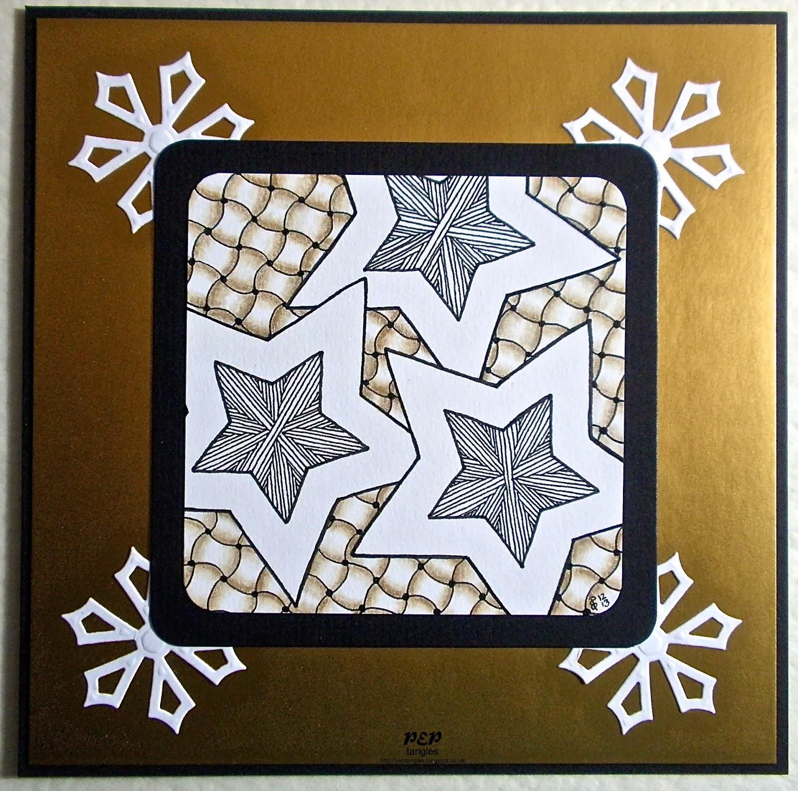 PEP tangles: Zentangle Inspired Christmas Cards