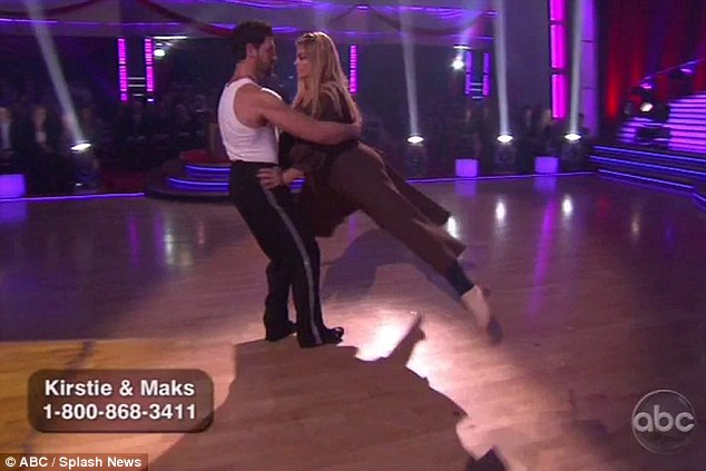 Kirstie Alley strips down to leotard on Dancing With The Stars as last three put best foot forward ahead of finale
