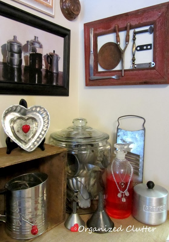 An Upcycled Junky Love Sign www.organizedclutterqueen.blogspot.com