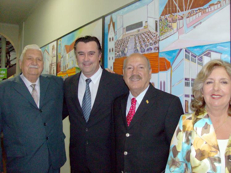 Inauguração do Centro Cultural Deutsche Schule  com painel  do Artista Doin Bom Jesus 80 anos