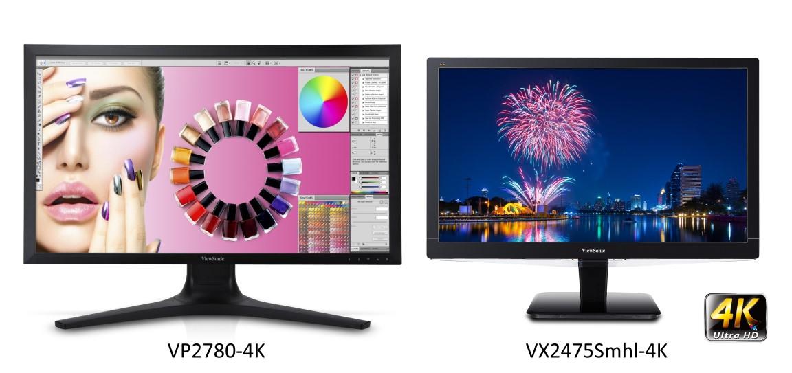 ViewSonic new Ultra HD 4K monitors