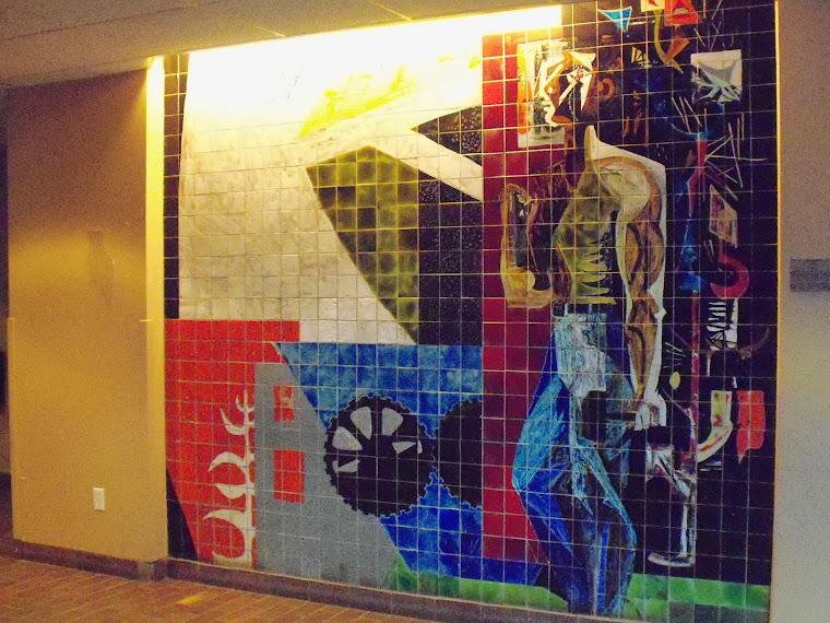 1960-murale auparavant à l'hotel de ville d'Arvida