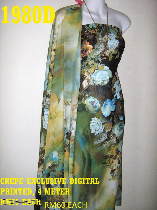 CDP 1980D: CREPE EXCLUSIVE DIGITAL PRINTED, 4 METER