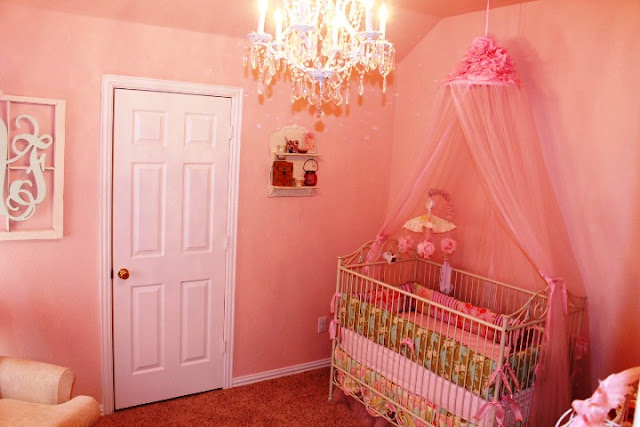 pink paint for baby girl's room