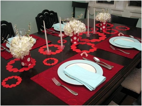 Decoracion de Mesas para San Valentin, parte 1