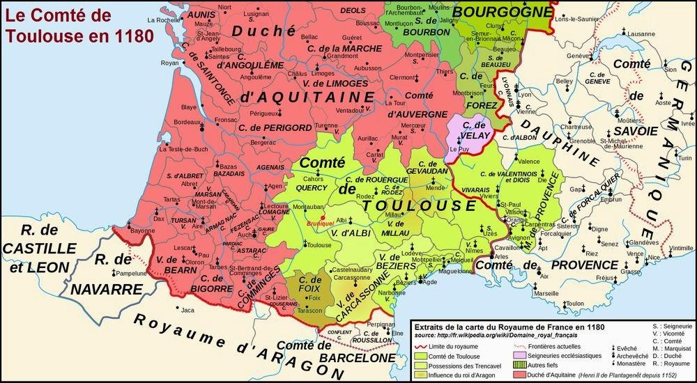 Constitutions of Clarendon Map Comt de Toulouse