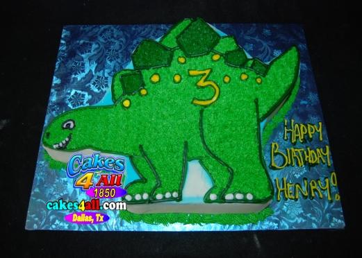 Dinosaur cut out cake plano tx bakery
