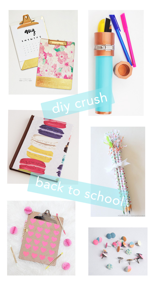 diy school supplies for a bubbly diy crush back to school supplies