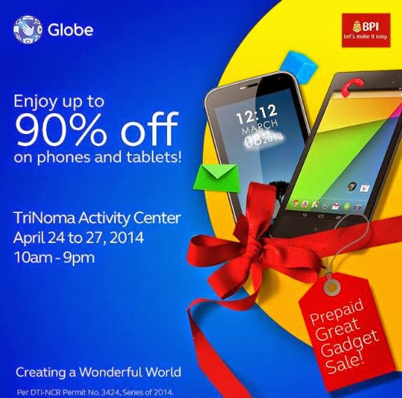 Globe Prepaid Great Gadget Sale, Get Up To 90% Off