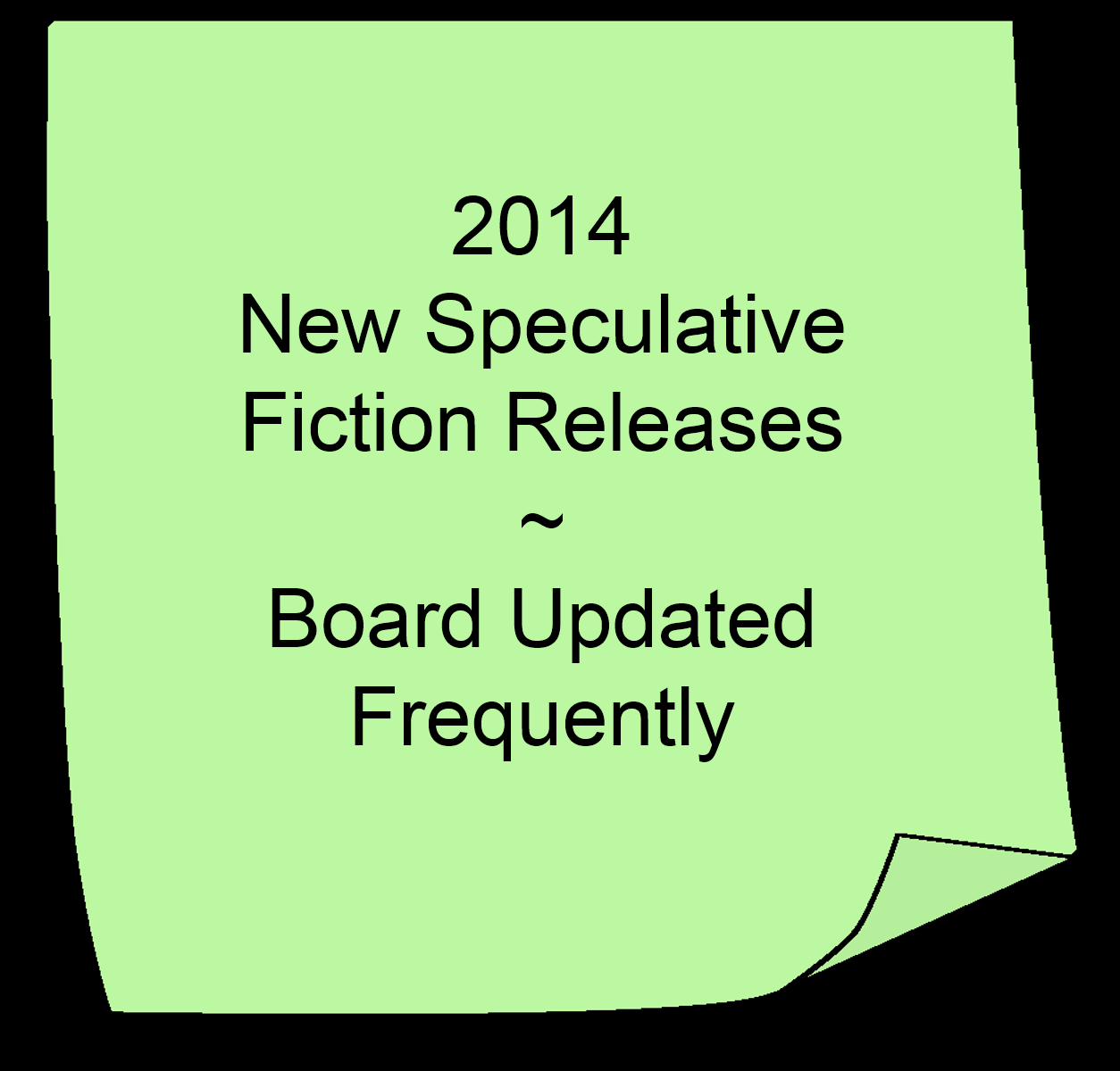 2014 New Speculative Fiction Releases Board