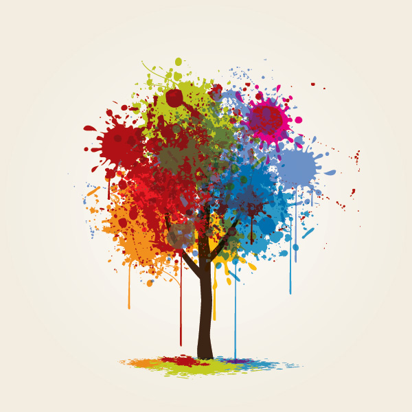 Vectores 5 vectores gratis de rboles subcutaneo for Painting and decorating advertising ideas