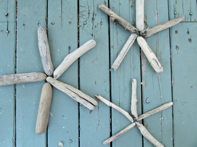 Estrellas decorativas con madera del mar2