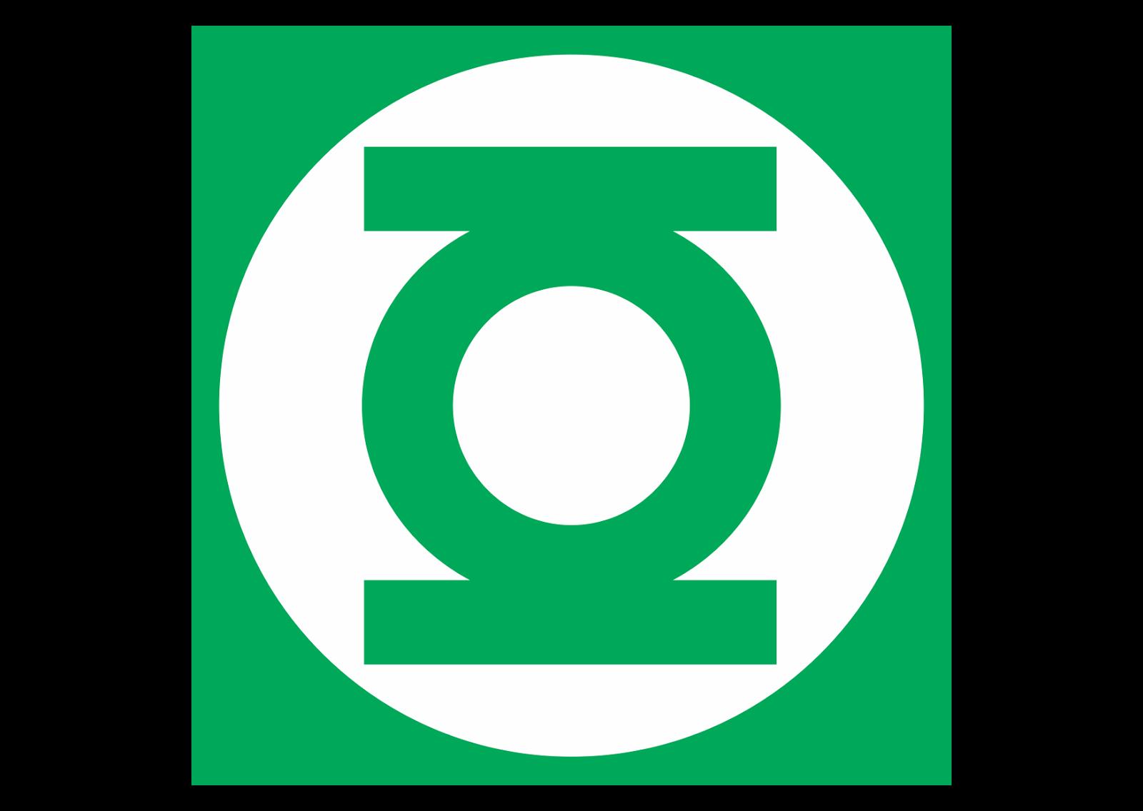 Green lantern logo vector