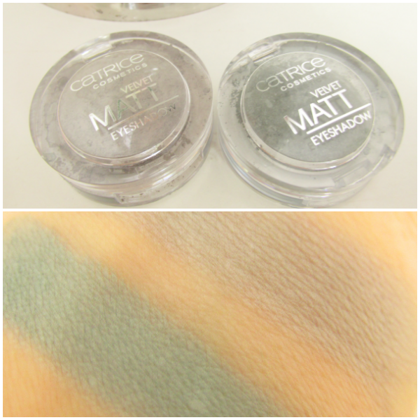 Catrice Velvet Matt Eyeshadows Swatches - 050 Welcome To Greysland - 060 Moss wanted Color