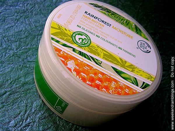 Tbs bodyshop rainforest moisture hair butter dry conditioner mask reviews ingredients