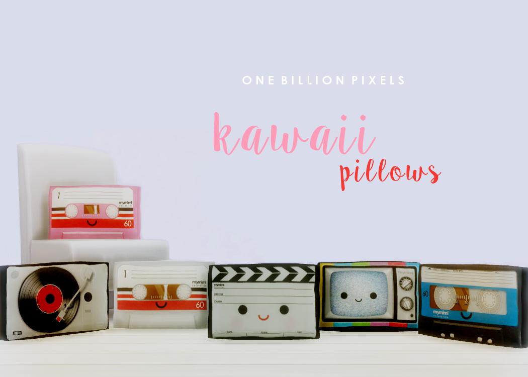 Kawaii Pillows (The Sims 4) - One Billion Pixels