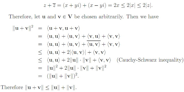 Linear Algebra: #17 Scalar Products, Norms, etc. equation pic 4