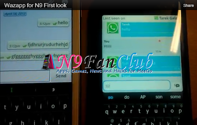 WhatsApp Client for MeeGo Harmattan - Nokia N9 - Wazapp - Download & Video Preview