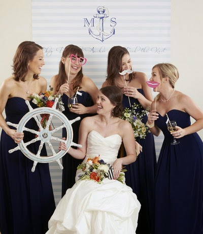 Style Me Pretty featuring Kate Aspen nautical wedding