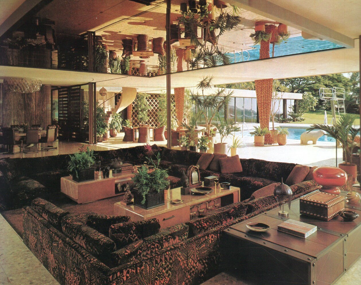 10 grooving conversation pits from back in the day go retro for 70s apartment design