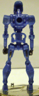 Back of mysterious mini blue robot