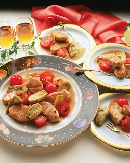 Turkey, Artichoke, and Tomato Tapas