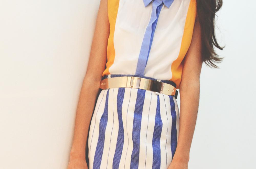 tenue légère pour l'été tenue colorée avec une touche vintage vetements vintage Maroc comment s'habiller vintage comment changer son style au maroc blog mode maroc