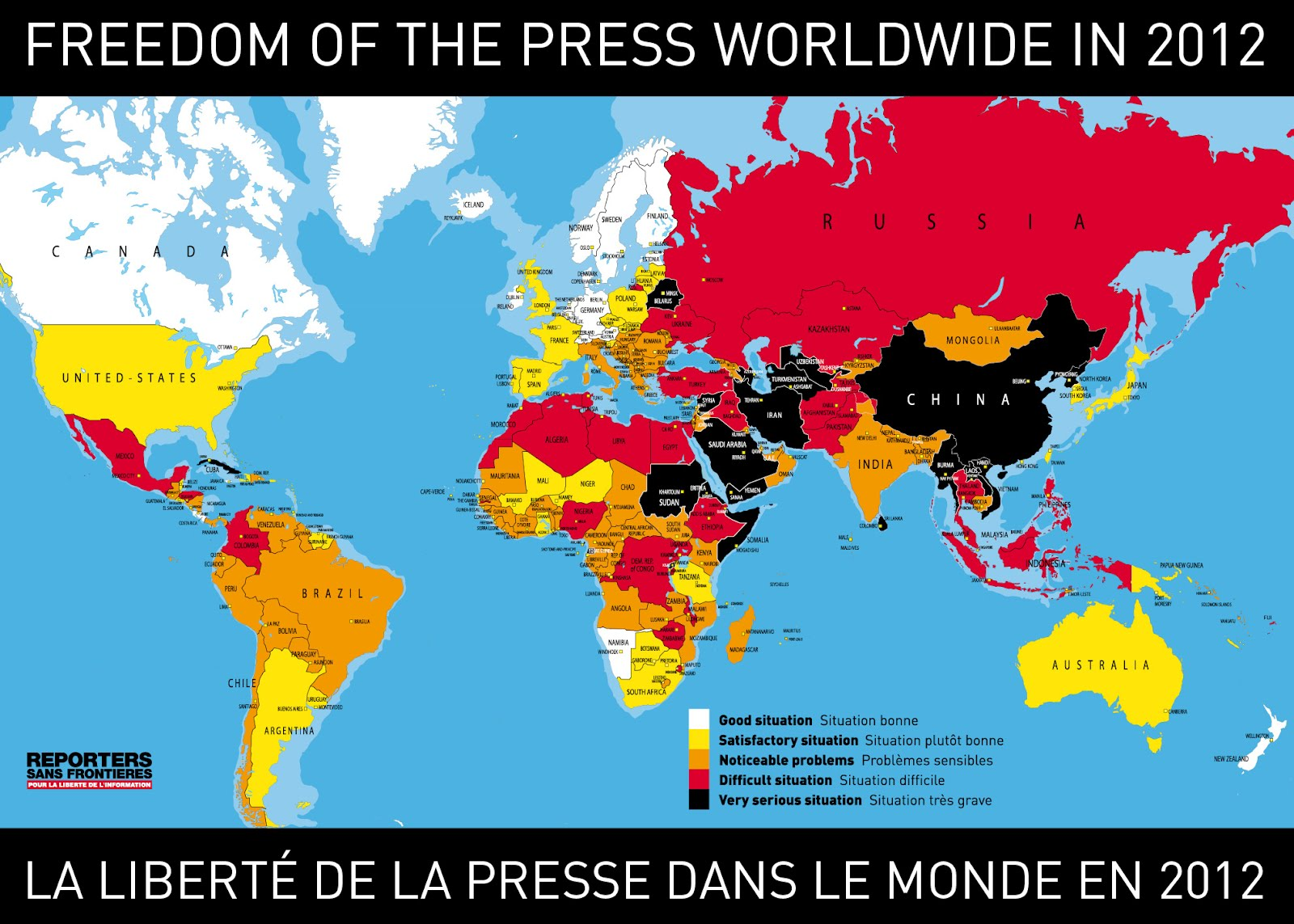 WORLD PRESS FREEDOM INDEX 2012