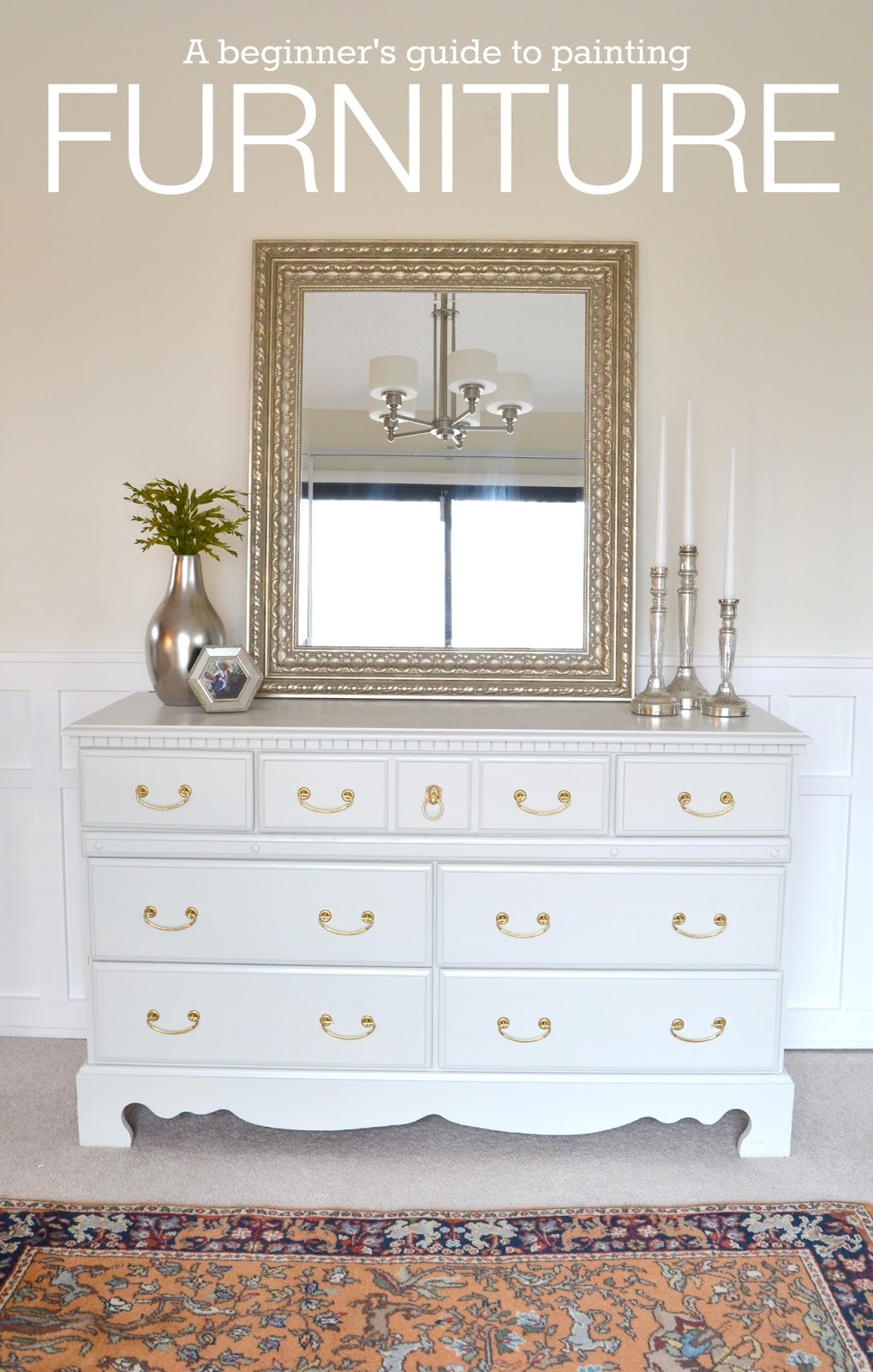 Painting a wood dresser white bestdressers 2019 for How to paint my bedroom furniture