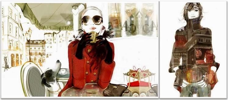 Ilustraciones Moda Sophie Giotto