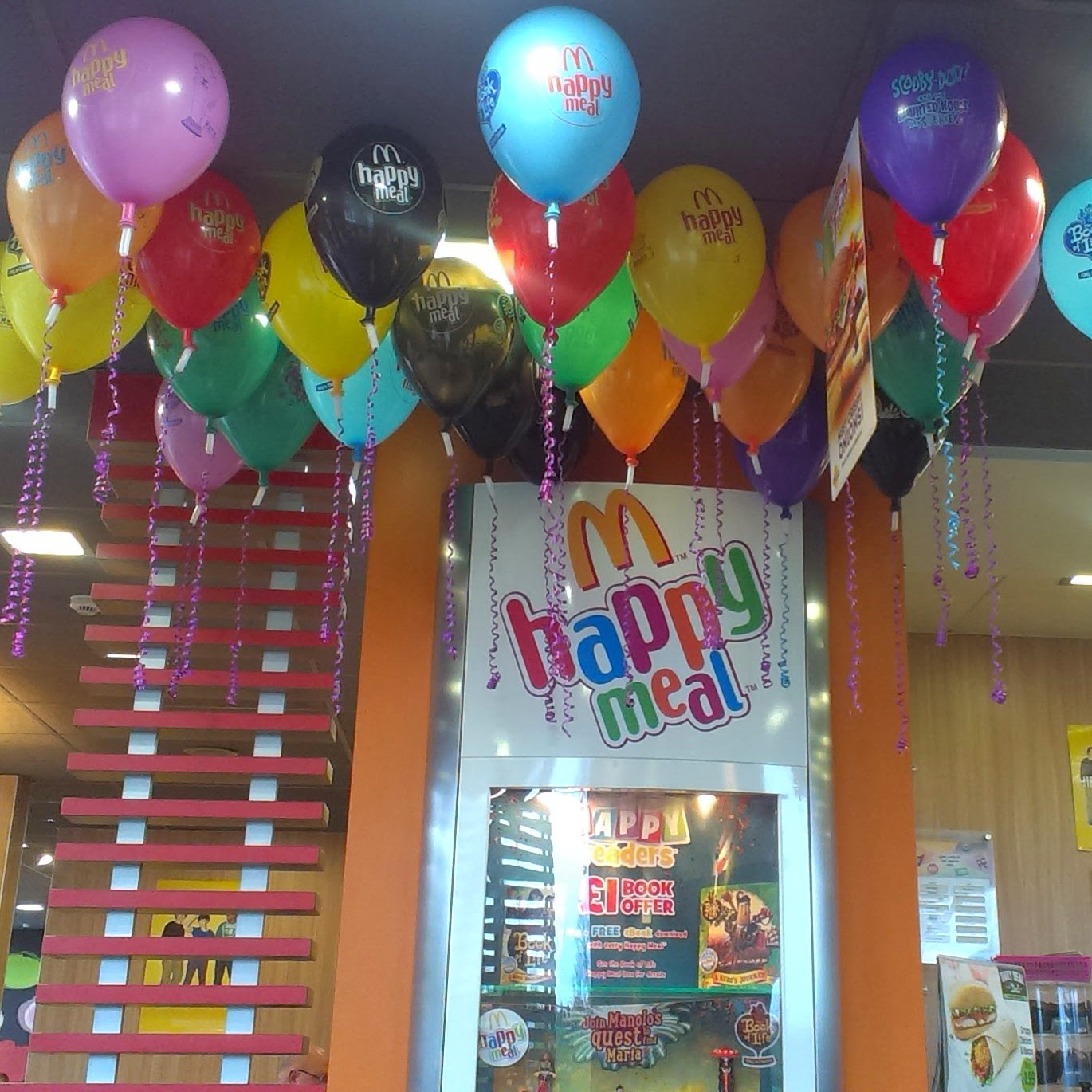 Balloons in McDonald's