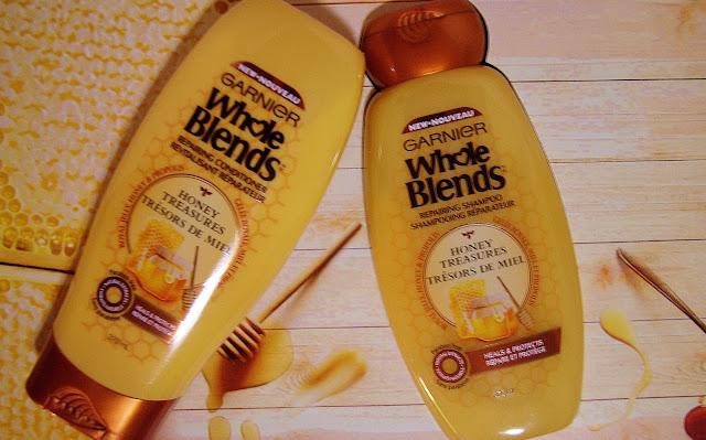 Garnier, Whole Blends, Honey Treasures, Shampoo, Conditioner, review, haicare, beauty, crowdsocial, The Purple Scarf, MelaniePs, Toronto, Ontario, Canada