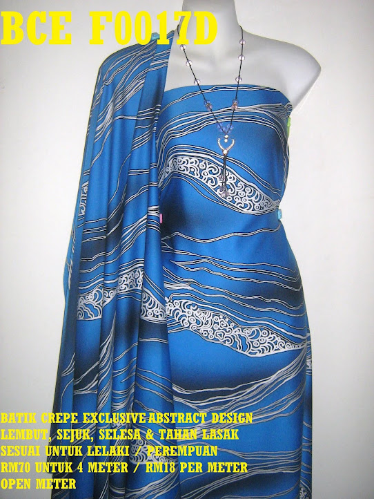 BCE F0017D: BATIK CREPE EXCLUSIVE ABSTRACT DESIGN
