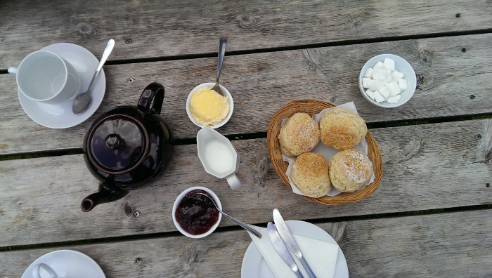 Cream tea at a discovered hidden gem