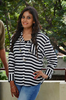 Actress Chandini Latest Pictures in Jeans at Kiraak Release Date Announcement Press Meet  0052