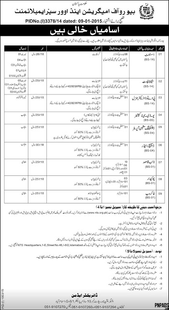 Jobs in Bureau of Emigration and Overseas Employment Pakistan